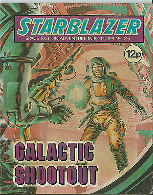 Galactic Shootout,starblazer Space Fiction Adventure In Pictures,no.25,1980