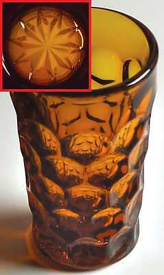 Imperial Glass Ohio PROVINCIAL AMBER Juice Glass 6949199