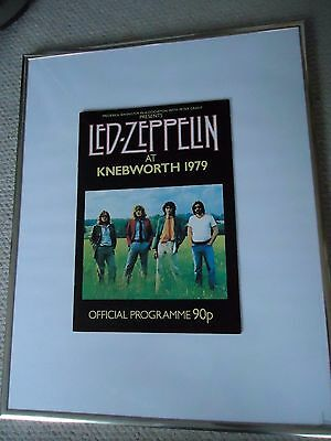 Led Zeppelin Knebworth Programme 1979 Original Vintage Valuable 37 Years Rarity