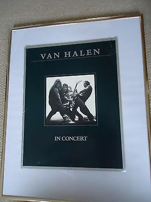 Van Halen Concert Programme 1980 Woman & Children Tour Original Vintage Valuable