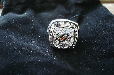 Denver OUTLAWS 2014 Major League Lacrosse MLL Champions Replica Ring