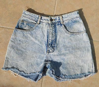 Vtg JORDACHE Cut Off Jean Shorts Stone Washed Distressed Size 9/10  Hong Kong