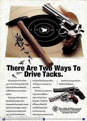 1993 Smith & Wesson Model 29 Revolver Ad Collectible Firearms ADVERTISING