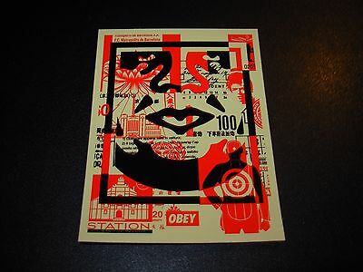 SHEPARD FAIREY Obey Giant Sticker 3X4 ANDRE OG Mosaic bottom from poster print