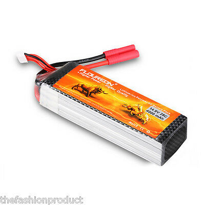 4S 14.8V 4000mAh 25C LiPo RC Battery Pack for RC Car Airplane Helicopter Hobby
