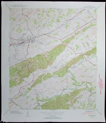 Abington Virginia Holston River vintage 1954 old USGS Topo chart