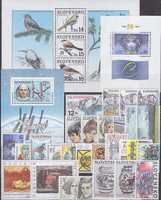 SLOVAKIA - 1999 COMPLETE YEAR SET - JAHRGANG with SHEETS - **MNH** - CHEAP !!