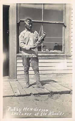 RPPC  Native American First People PATSY HENDERSON Lecturer of Klondike Postcard