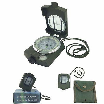 Portable Military Army Geology Lensatic Compass Prismatic Outdoor Camping Travel
