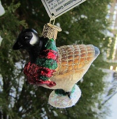 Old World Christmas CANADIAN GOOSE Blown Glass Christmas Ornament