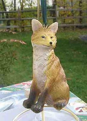 RED FOX Sitting Christmas Tree Ornament CLEARANCE SALE