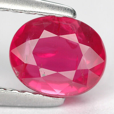 1.03 Ct. Fabulous Red Natural Unheated Ruby Gem With Glc Certify