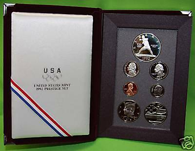 1992 PRESTIGE Proof Set. U.S. Mint Made. Complete & Original. With Box
