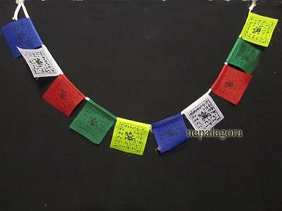 PF95 Tibetan Om Mani Padme Hum Mantra small cotton prayer flags lungta Nepal
