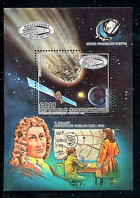 Central Africa 785, MNH, Halley's Comet, 1985. x20133