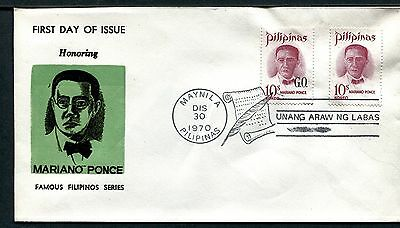 Philippines Cover FDC Mario Ponce 1863-1918 December 30, 1970  x17875
