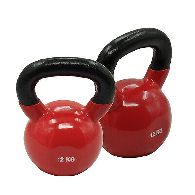 12KG x 2 - TOTAL 24KG IRON VINYL KETTLEBELL WEIGHT - CROSS FIT STRENGTH TRAINING