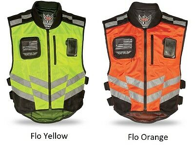 Fly Racing Fast Pass Military Spec High Visibility Motorcycle Riding Safety Vest