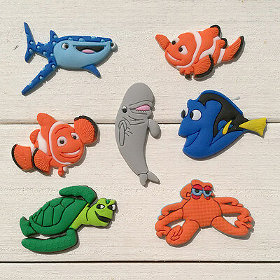 7pcs/lot Finding Nemo PVC Shoe Charms Accessories for Croc&Jibbitz as Party Gift