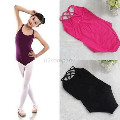 Children Girl Kids Dance Clothes Jumpsuit Ballet Bodysuit Leotard Dancewear B78