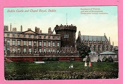 Dated 1910. postcard. Dublin Castle and Chapel Royal, Ireland