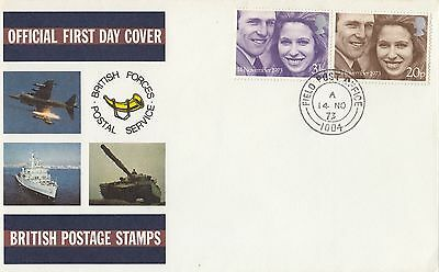 (96002) CLEARANCE GB British Forces FDC Royal Wedding Field Post Office Nov 1972