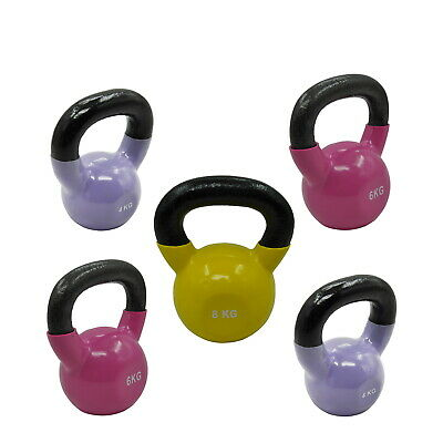 4KGx2 + 6KGx2 + 8KG - TOTAL 28KG IRON VINYL KETTLEBELL WEIGHT STRENGTH TRAINING