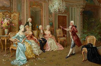 The Recital by Cleto Luzzi Giclee Canvas Print repro