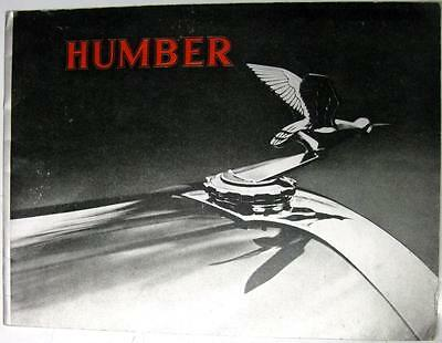 HUMBER Range Original Car Sales Brochure 1935 Models Ref H.17, 1564/11/34 JS