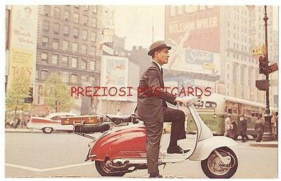 LAMBRETTA MOTOR SCOOTER Great Original 1950's Ad Postcard at 47th St NYC!
