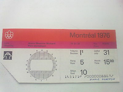Ticket Olympic Games MONTREAL 31.07.1976 - WRESTLING (15:00)