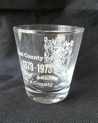 Rare Whisky Glass - Bristol 600 Years As A County 1973