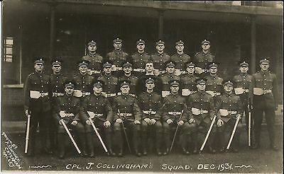 Cpl Collingham's Squad 1931 (Lanarks infantry?) on A. Gundry real photo postcard