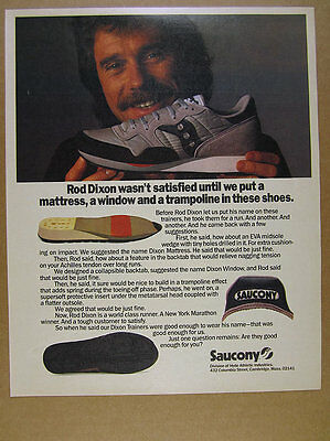 1985 Saucony Rod Dixon Trainers Running Shoes photo vintage print Ad