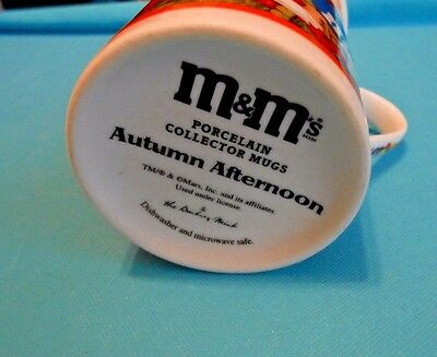 Original Danbury Mint M&M's Porcelain Fall Collector Mug Autumn Afternoon