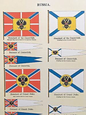 Russia Serbia Vexillology 1899 FLAGS OF MARITIME NATIONS Japan Orange Free State