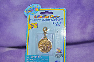 Webkinz  EXTREMELY  RARE KINZCASH COIN CHARMS  NWFC  ~ FREE SHIPPING!!