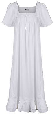 100%  Cotton Nightgown Victorian / Vintage Style Nightdress  Evelyn Sizes S- 4XL