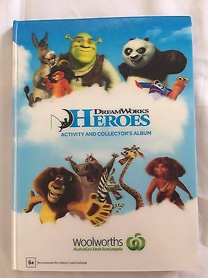Woolworths Heroes DreamWorks Collection Album  + Full Card Set