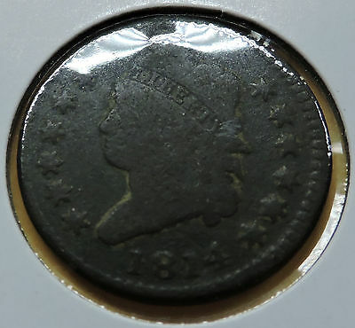 """1814 """"classic Head"""" Usa Large Cent Coin"""