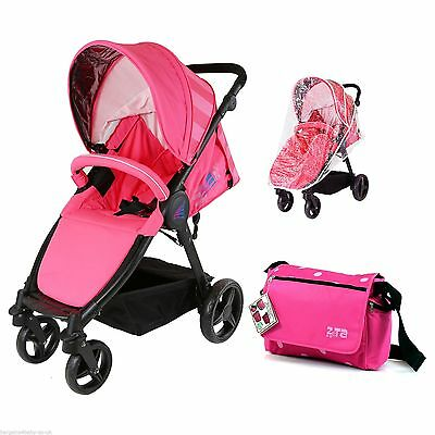 Sail Stroller - Pink Includes Bumper Bar Rain cover Bootcover & Bag