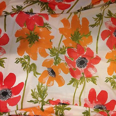 VERA Neumann Poppies SHEET Full Size  Burlington Collection Percale Vintage