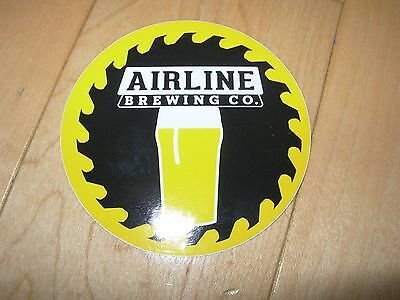 AIRLINE BREWING CO Amherst Maine Circle Logo STICKER decal craft beer brewery