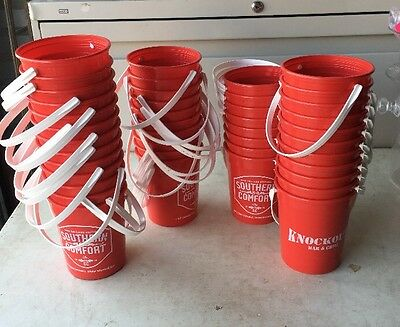 """Lot Of 40 Southern Comfort Whiskey Mini Buckets 5 1/2"""" Tall Plastic Pitcher"""