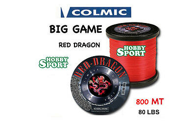 Filo Nylon Traina Big Game 80 Lb Red Dragon Colmic