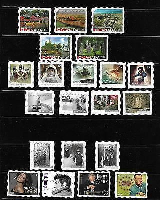 Canada 2014  Used  76  Different 14  Cpl Set