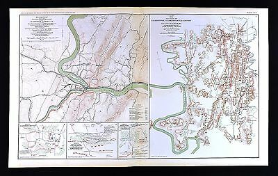 Civil War Map Harper's Ferry Hagerstown Williamsport Cold Harbor - West Virginia