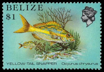 """BELIZE 711 (SG778) - Marine Life """"Yellow-tail Snapper"""" (pa55003)"""