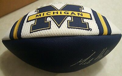 MIKE HART Signed MICHIGAN WOLVERINES FOOTBALL AUTO