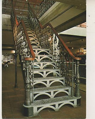 Welsh Industrial & Maritime Museum. Staircase. Postcard in faircondition. Unused